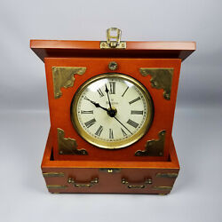 Bulova Edinbridge Antiqued Desktop Mantel Quartz Battery Powered Clock