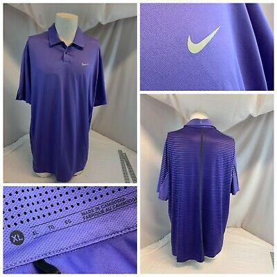 Nike Tiger Woods Collection Golf Polo Shirt XL Men Purple Poly LNWOT YGI C0-480