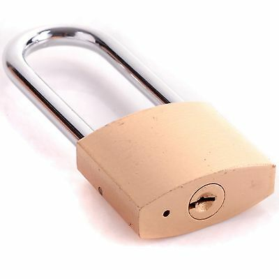 STRONG STEEL LONG SHACKLE 50mm Wide PADLOCK Garage Outdoor Security Large Loop
