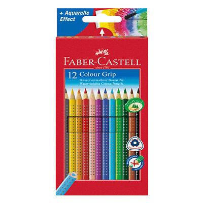 FABER-CASTELL Farbstift 12er Etui COLOUR GRIP