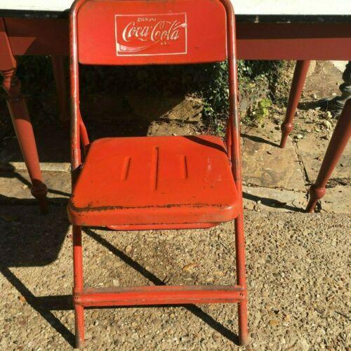 Rare Vintage Coca Cola Folding Chair Single