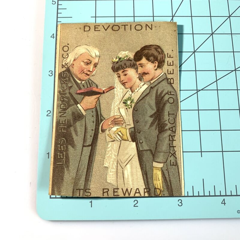 Rare Lee's Hendricks & Co Extracts Of Beef Devotion Victorian Trade Card