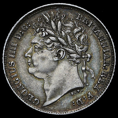 1825 George IV Milled Silver Sixpence – A/EF