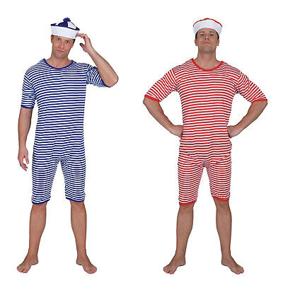 Badeanzug gestreift gestreift blau weiß rot weiß Clown klassische Kostüm