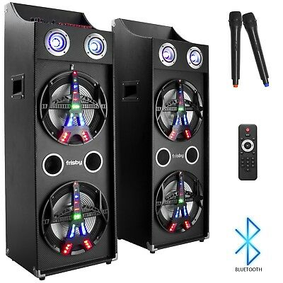 Frisby FS-4090ST Karaoke Machine PA Bluetooth Stereo Speaker Tower System w/ Mic