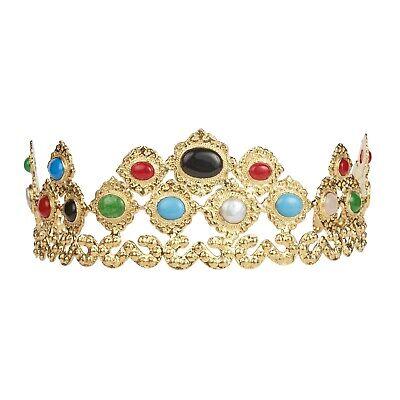 $500 Christie Nicolaides Parnella Crown Gold Gem Stone Turquoise Pearls Wedding