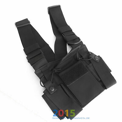 Radio Chest Harness Chest Pack Pouch Holster Vest Rig for  Radio