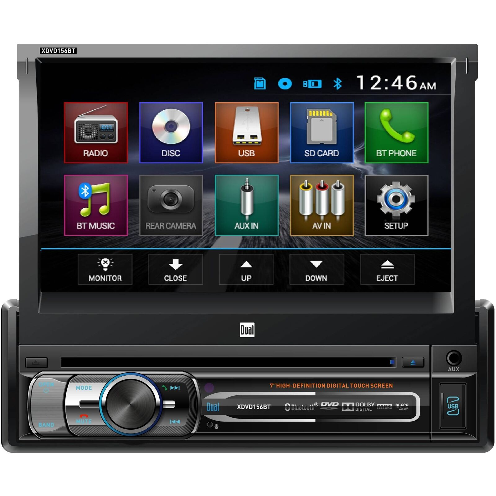 Car Dual Multimedia Dvd Receiver With Bluetooth Xdvd156bt Ebay Power Acoustik Ptid 8920b Wiring Diagram Stock Photo