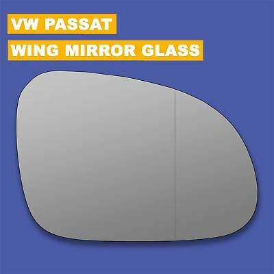 VW Passat 05-10 wing mirror glass Right Driver Side Heated blind spot