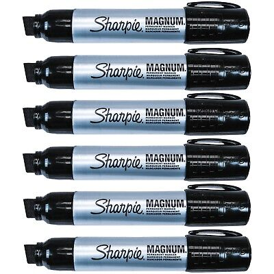 Sharpie Magnum 44 Jumbo Permanent Black Markers 44001 Pack Of 6