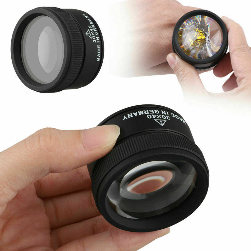 40X30 Magnifying Loupe Jewelry Eye Glass Magnifier Jewelers Loop Pocket Portable