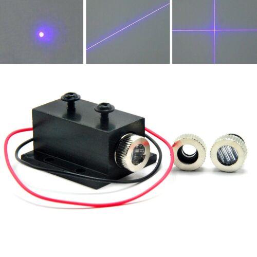 3in1 405nm 10mW Violet/Blue Dot Line Cross Focusable Laser Diode Module Heatsink