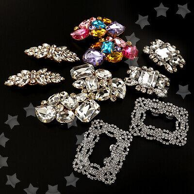 2X Crystal Rhinestone Shoe Clips Buckle High-heel Wedding Bridal Party Accessory ()
