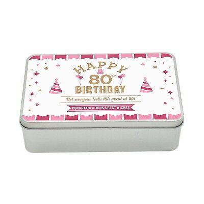 80th Birthday Keepsake Novelty Funny Tin Gift Box Present Idea Women Lady Her ()