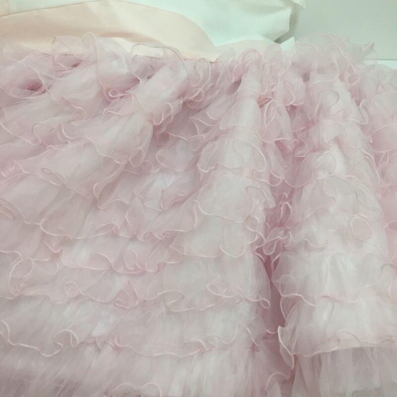 "Baby Bed Crib Skirt Pink Ruffles 19"" Long"