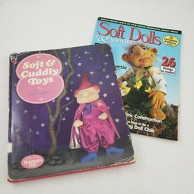 Doll Making Book Lot 2 Craft Patterns Soft Dolls Cuddly Toys Plush Sewing Gifts Doll Making Books