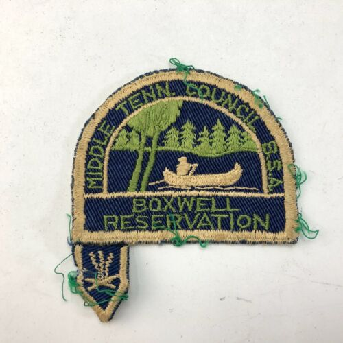 Vintage Middle Tennessee Council Boxwell Reservation Boy Scout Patch