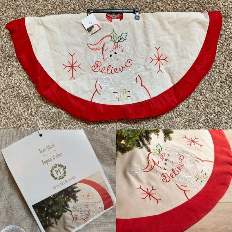 "Pier 1 Imports Christmas Santa Claus 48"" Tree Skirt NWT!"