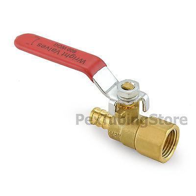 10 12 Pex Crimp X 12 Female Threaded Brass Shut-off Ball Valves Full Port
