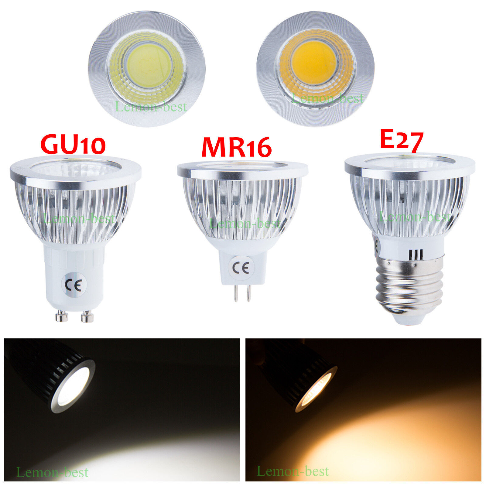 gu10 e27 mr16 dimmable led ampoule spotlight lamp bulb 9w 12w 15w warm day white ebay. Black Bedroom Furniture Sets. Home Design Ideas