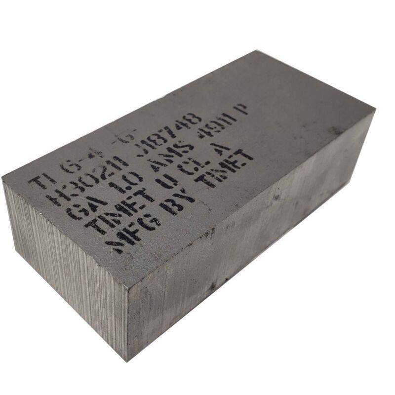 "6AL-4V Titanium Plate 1"" x 1.625"" x 3.625"""