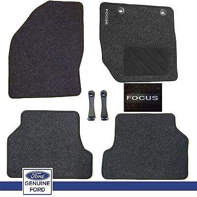 NEW Genuine Ford Focus MK2 2005 2011 Set of 4 Tailored Carpet Car Floor Mat Set