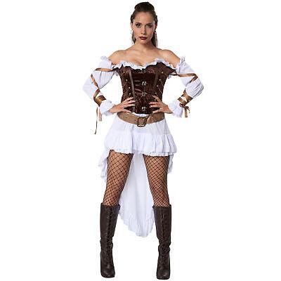 Womens Costume Steampunk Madame Victorian Gothic Sci Fi Fancy Dress Carnival