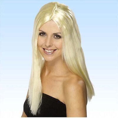 Perücke Glamour blonde Alltagsperücke lang glatt Langhaarperücke Partyperücke