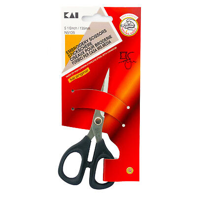Kai 5135 5-1/2 Inch Fine Point Sewing & Embroidery Scissors 5 Inch Scissors