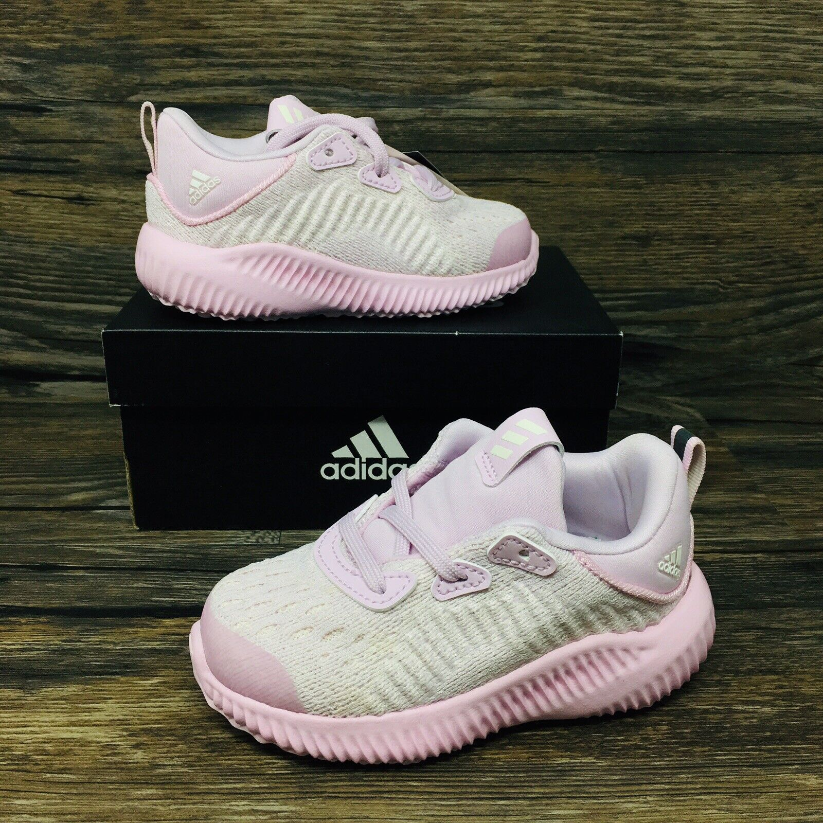 *NEW* Adidas Alphabounce EM (Toddler Size 5K) Purple/Pink Athletic Shoes