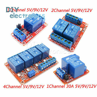 124 Channel Relay Module Board With Optocoupler Hl Level Triger 30a 5v-24v