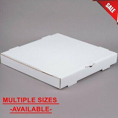 50 Pack Pick Your Size White Kraft Corrugated Plain Pizza Bakery Box Square