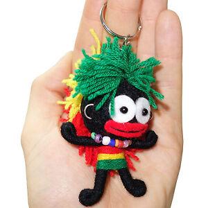 Reggae-Rasta-Music-Voodoo-Doll-Keyring-Wearing-Necklace-Hoop-Earrings-Bob-Marley