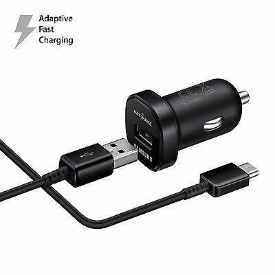 OEM For Samsung Galaxy Note 8 S8 S8 PLUS Adaptive Fast Rapid Cable + Car Charger