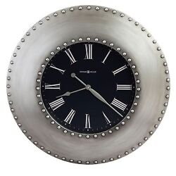 HOWARD MILLER - OVER-SIZED GALLERY WALL CLOCK- ANTIQUE NICKEL FINISH 625610