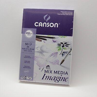 CANSON Skizzenblock Mix Media Imagine 200 g/qm DIN A5 50 Blatt