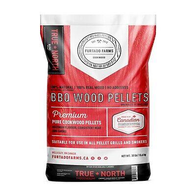 True North BBQ WOOD PELLETS- 100% Natural- pure, clean, quality wood!-