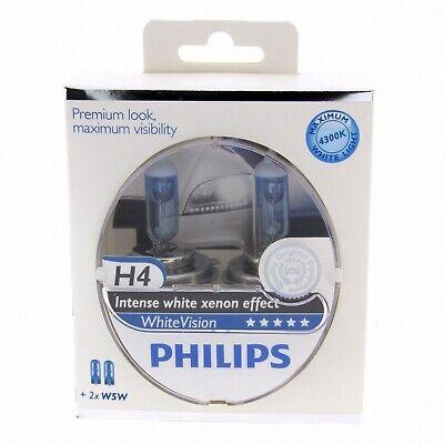 H4 Philips WhiteVision Intensive Xenon Effekt 4300K 12342WHV Halogen DUO 2 Stück