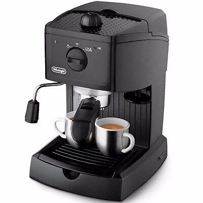 De'Longhi EC146.B Traditional Pump Espresso Coffee Machine 15 bar Black (De Longhi Traditional Pump Espresso Coffee Machine)