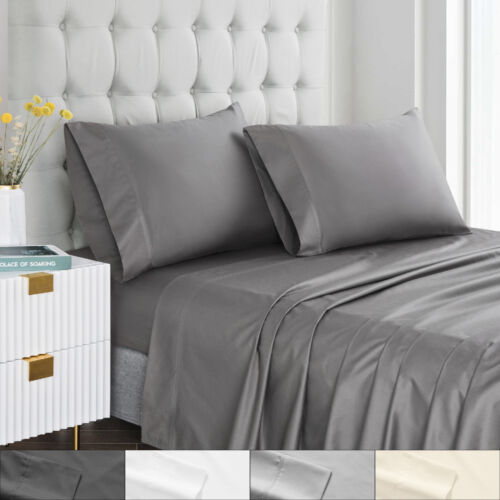Contemporary 400 Thread Count 100% Cotton Luxury Bedroom Sheet Set Bedding