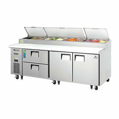 Everest Eppr3-d2 93 Pizza Prep Table Refrigerated Counter