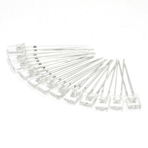 50PCS 2x5x7mm Square LED Diodes Water Clear White Light Rectangular for Arduino
