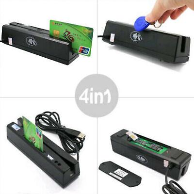 Zcs160 Magnetic Stripe Credit Card Rfid Emv Ic Chip Psam Reader Writer 4 In 1