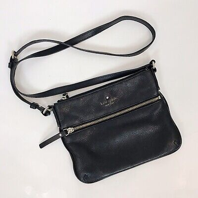 KATE SPADE Black Leather Cobble Hill TINLEY Small Crossbody PURSE Bag