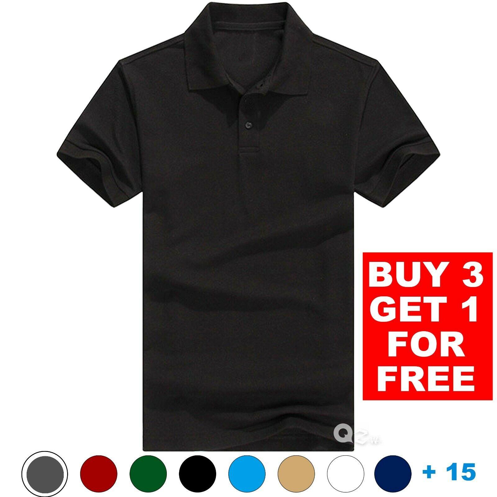 Men's Polo Shirt Golf Sports Cotton Short Sleeve Jersey Casual Plain T Shirt New