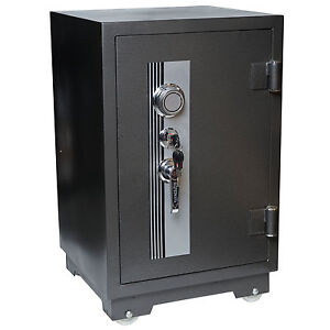 Tresor T243, Panzerschrank Safe, 1h feuerfest bis 1010°C 92kg 70x44x44cm