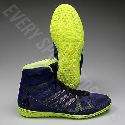 Adidas Mat Wizard 3 Wrestling Shoes S77967 - Navy Silver Lime (NEW) de80bdd79