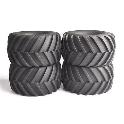 4pcs 1/10 Bigfoot Tires 12 mm Hex Wheels for Monster Truck Off road RC car Black