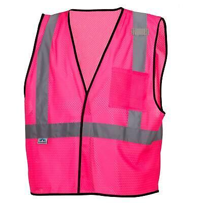 Pyramex Non-ansi Reflective Mesh Safety Vest - Pink