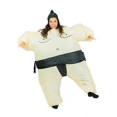 Wrestler Halloween-kostüme (Adult Funny Inflatable Sumo Wrestler Fancy Dress Costume Outfit Suit Halloween)
